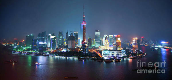 Wall Art - Photograph - Shanghai Panorama by Delphimages Photo Creations