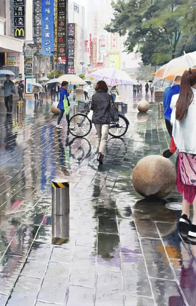 Shanghai Showers Art Print
