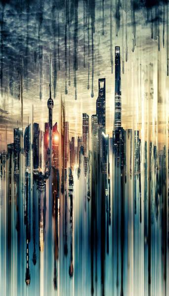 City Scape Digital Art - Shanghai by Tim Palmer