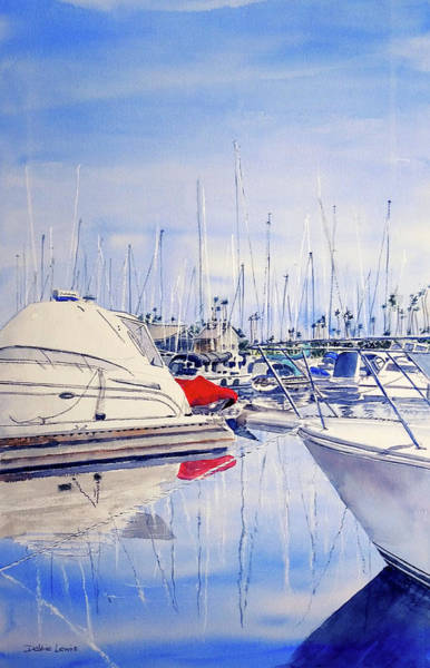 Painting - Shapes And Colors Of Alamitos Bay by Debbie Lewis