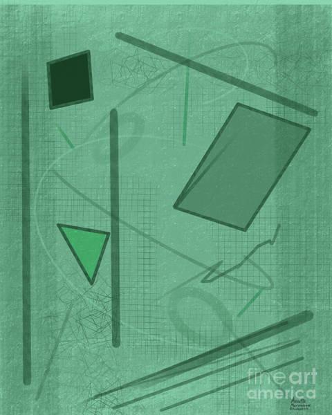 Digital Art - Shapes In Green Color by Annette M Stevenson