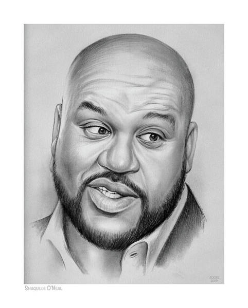 Wall Art - Drawing - Shaq by Greg Joens