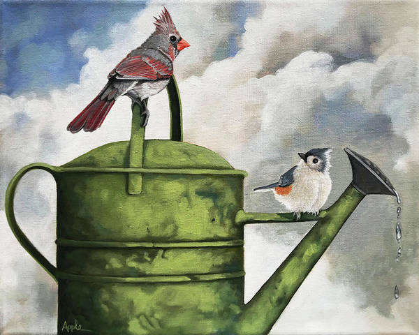Wall Art - Painting - Sharing by Linda Apple