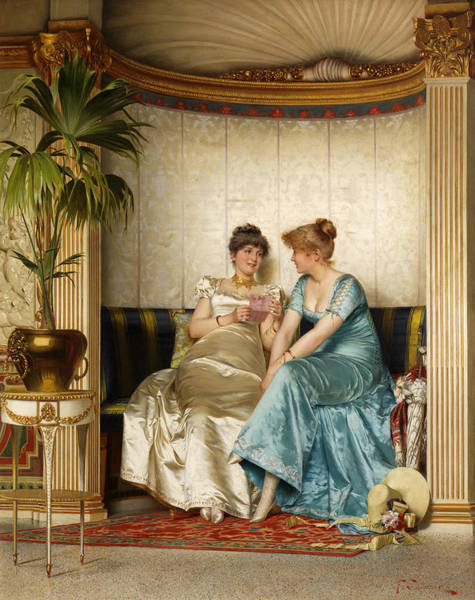 Wall Art - Painting - Sharing Secrets by Frederic Soulacroix