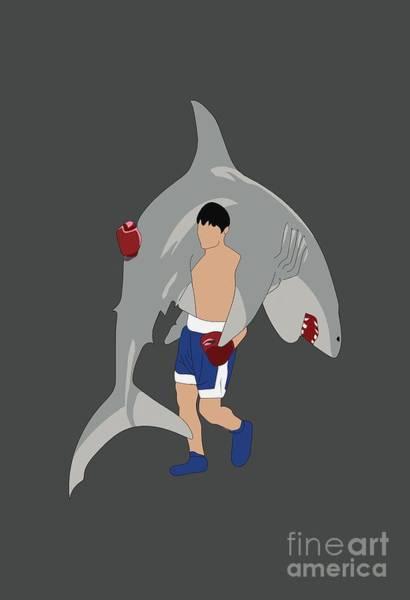 Wall Art - Digital Art - Shark by Nader Sharapy