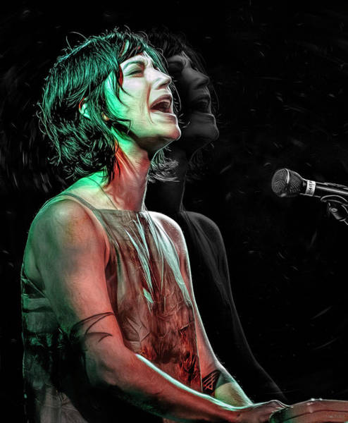 Wall Art - Mixed Media - Sharon Van Etten by Mal Bray
