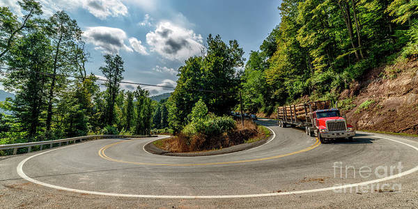 Photograph - Sharp Curve Country Road  by Thomas R Fletcher