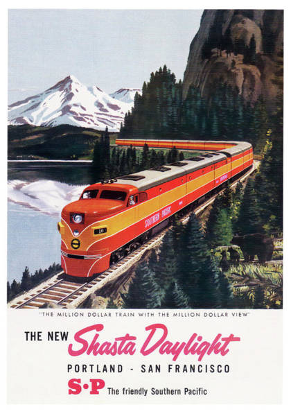 Wall Art - Photograph - Shasta Daylight Locomotive 1955 by Daniel Hagerman