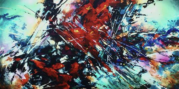 Wall Art - Painting -  Shattered Red by Michael Lang