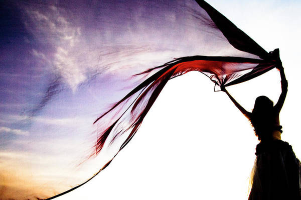 Belly Dancing Wall Art - Photograph - She Brings The Sunset by Yanig Yanig.com