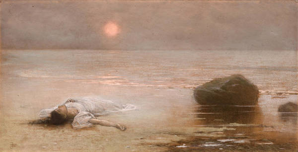 Wall Art - Painting - She Drowned by Jakub Schikaneder