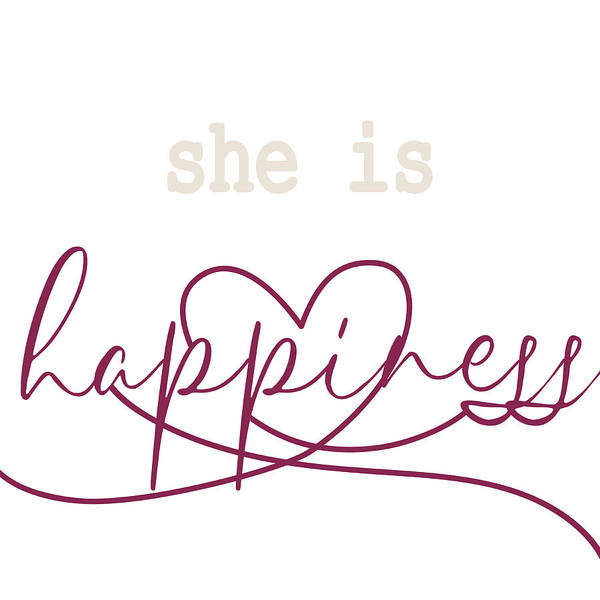Happiness Mixed Media - She Is Happiness by Sd Graphics Studio