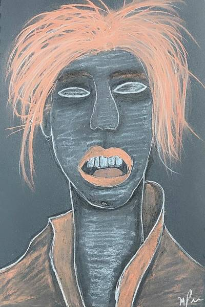 Drawing - She Is by Mario MJ Perron