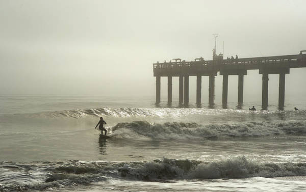 Photograph - She Is Surfing In The Fog by Janal Koenig
