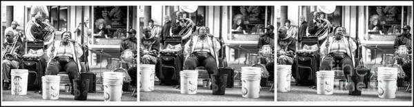 Photograph - She Sings With Soul Triptych New Orleans by John Rizzuto