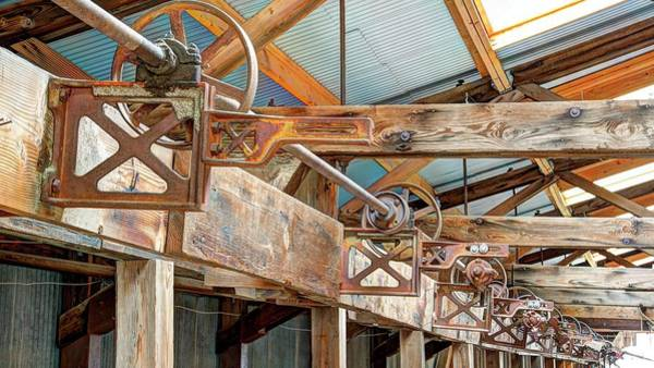 Photograph - Shearing Pulleys Brackets by Jerry Sodorff