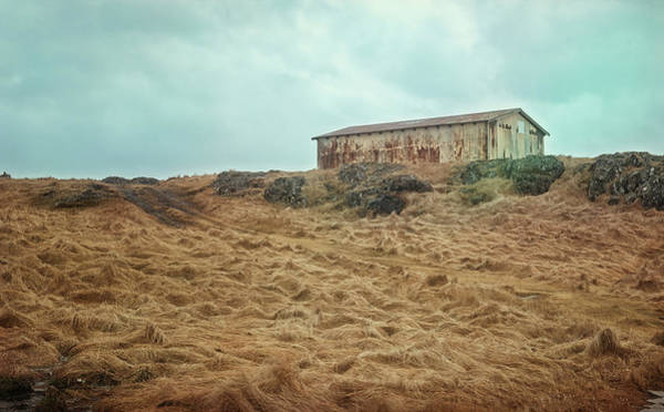 Photograph - Shed On The Hill Iceland by Joan Carroll