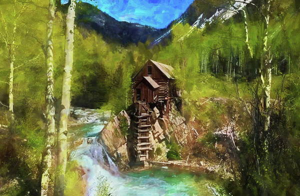 Mixed Media - Sheep Mountain Mill by Russ Harris