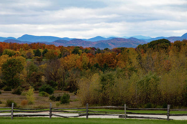 Photograph - Shelburne Museum View Of Vermont Fall Colors by Jeff Folger