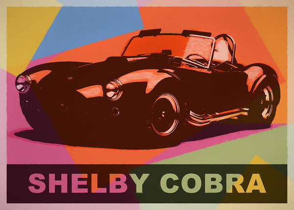 Painting - Shelby Cobra Pop Art by Dan Sproul