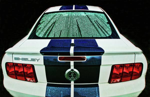 Photograph - Shelby Gt500 In The Rain by Bill Jonscher