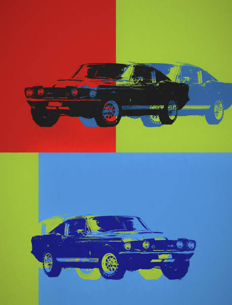 Painting - Shelby Mustang Pop Art by Dan Sproul