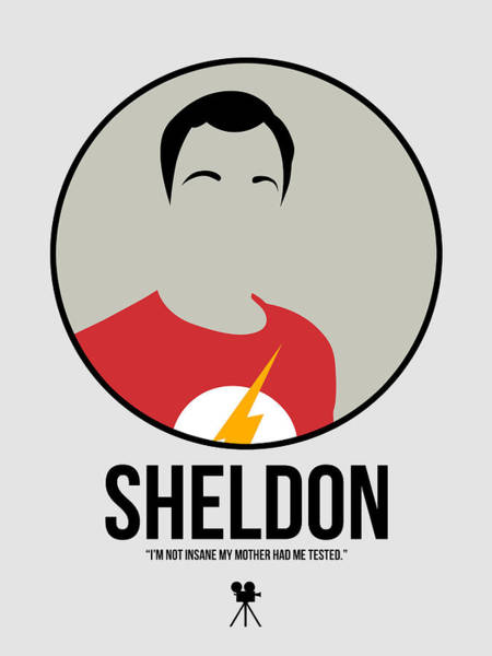 Wall Art - Digital Art - Sheldon Portrait by Naxart Studio