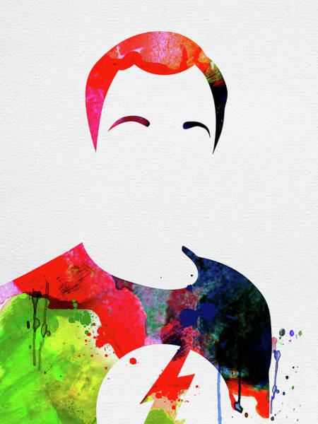 Wall Art - Mixed Media - Sheldon Watercolor by Naxart Studio