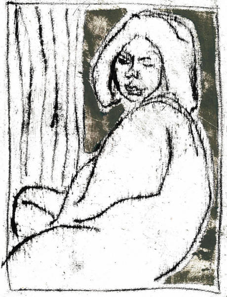 Drawing - Shelley By A Window by Artist Dot