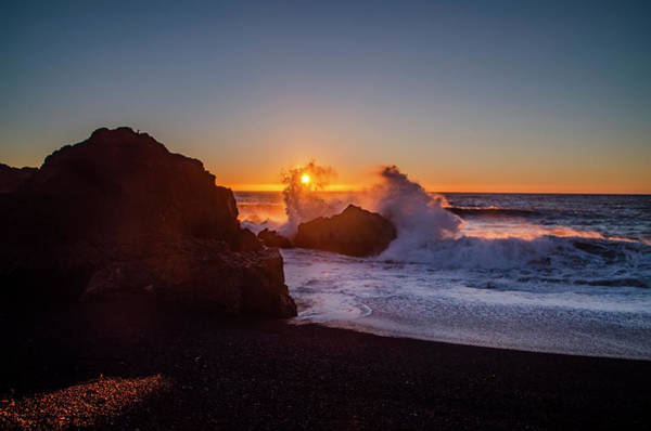 Photograph - Shelter Cove - Black Sands Beach Sunset by Bill Cannon