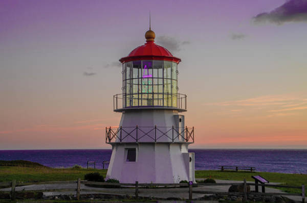Photograph - Shelter Cove Lighthouse At Sunset by Bill Cannon