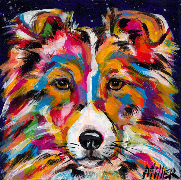 Wall Art - Painting - Sheltie by Tracy Miller