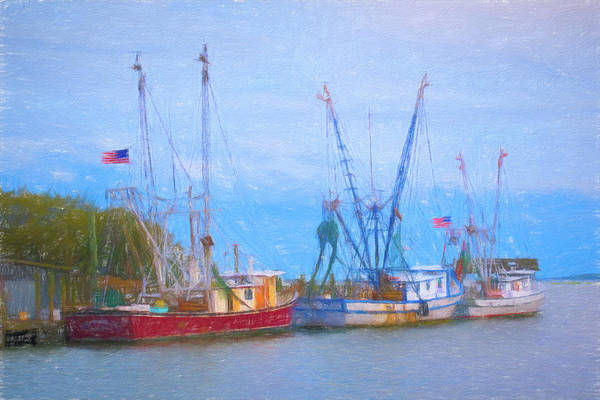 Photograph - Shem Creek Boats Iv by Jon Glaser