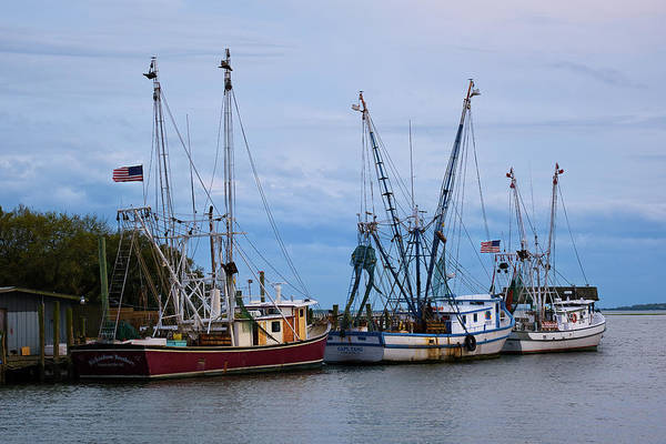 Wall Art - Photograph - Shem Creek Boats by Jon Glaser