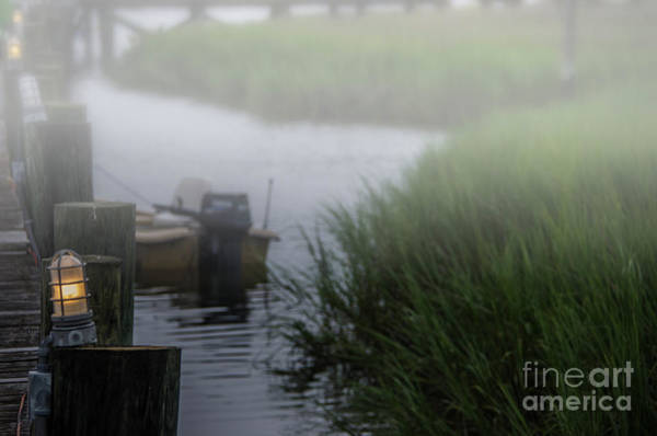 Photograph - Shem Creek Fog by Dale Powell