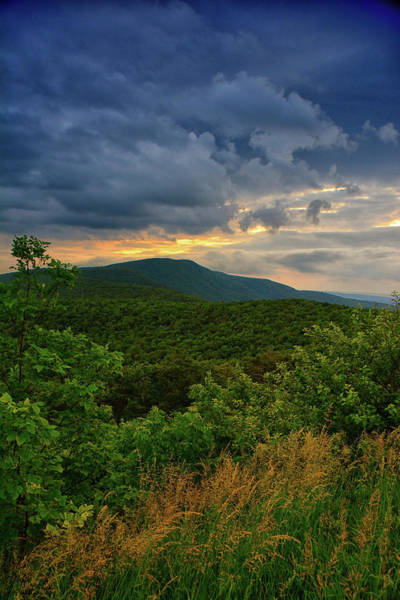 Photograph - Shenandoah National Park Sunset Pass Mountain by Raymond Salani III