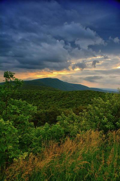 Photograph - Shenandoah National Park Hogback Mountain At Sunset by Raymond Salani III