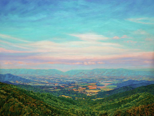 Wall Art - Painting - Shenandoah Sky - Shenandoah Valley From Skyline Drive Overlook by Bonnie Mason
