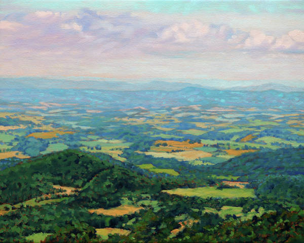 Wall Art - Painting - Shenandoah Summer - View From Skyline Drive by Bonnie Mason