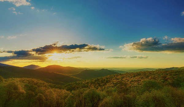 Wall Art - Photograph - Shenandoah Sunrise Panorama by N P S Neal Lewis