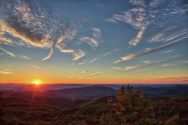 Shenandoah Sunset Art Print by Zev Steinhardt