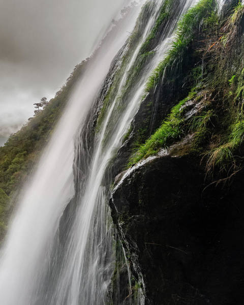 Photograph - Shenlong Valley Waterfall by William Dickman