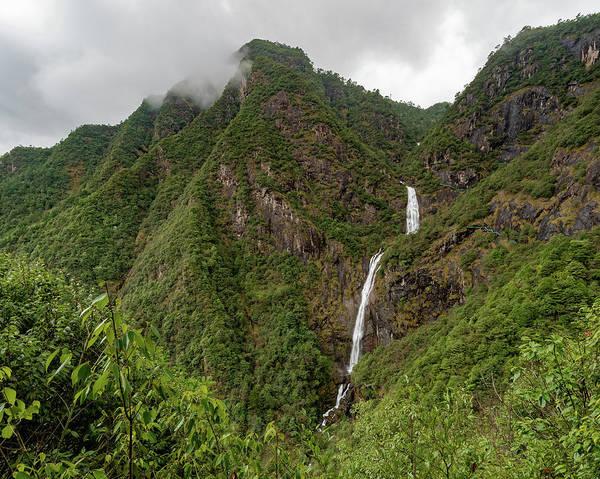Photograph - Shenlong Waterfall 8x10 Horizontal by William Dickman