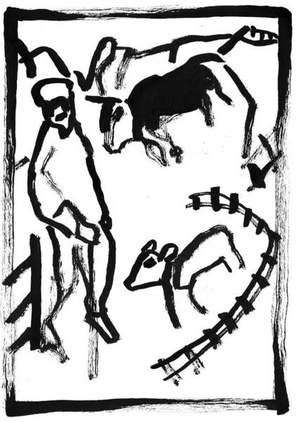Painting - Shepherd by Artist Dot
