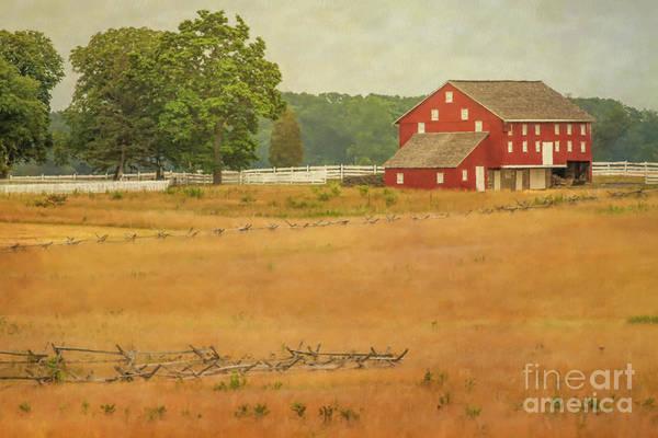 Wall Art - Digital Art - Sherfy Farm Barn Gettysburg by Randy Steele