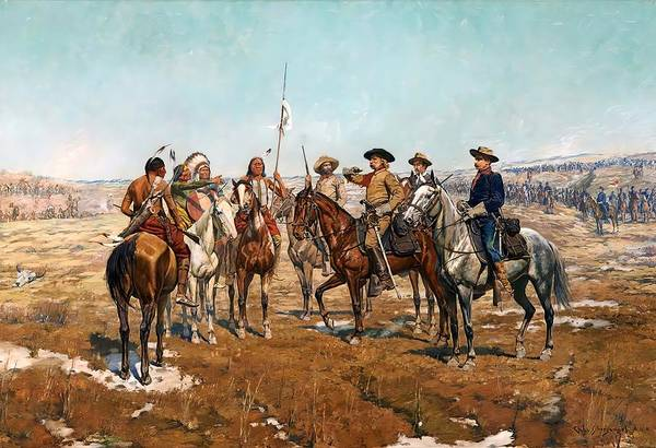 Wall Art - Painting - Sheridan's Campaign Custer's Demand by Charles Schreyvogel
