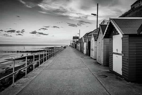Photograph - Sheringham Beach Huts Black And White by Scott Lyons
