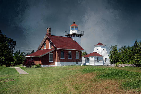 Wall Art - Photograph - Sherwood Point Lighthouse by John Bartelt