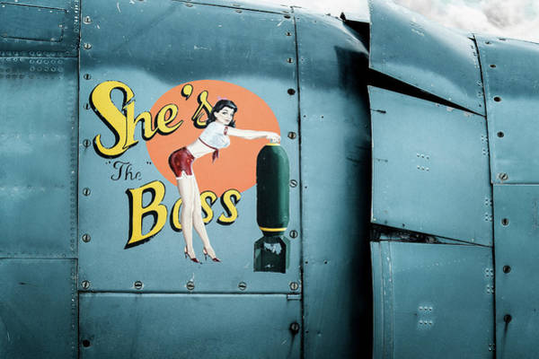 Photograph - She's The Boss, World War 2 Navy Avenger Torpedo Bomber by Gary Heller