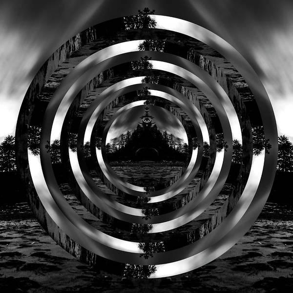 Wall Art - Photograph - Shi Shi Beach Black And White Reflection Circles by Pelo Blanco Photo